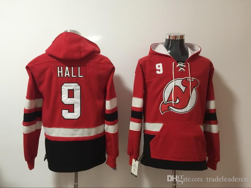 2019 New Jersey Devils Hoodies 9 Taylor Hall 14 Adam Henrique 26 Patrik  Elias 30 Martin Brodeur Red Ice Hockey Hoody Sweatshirts Red Green From ... 515f18232