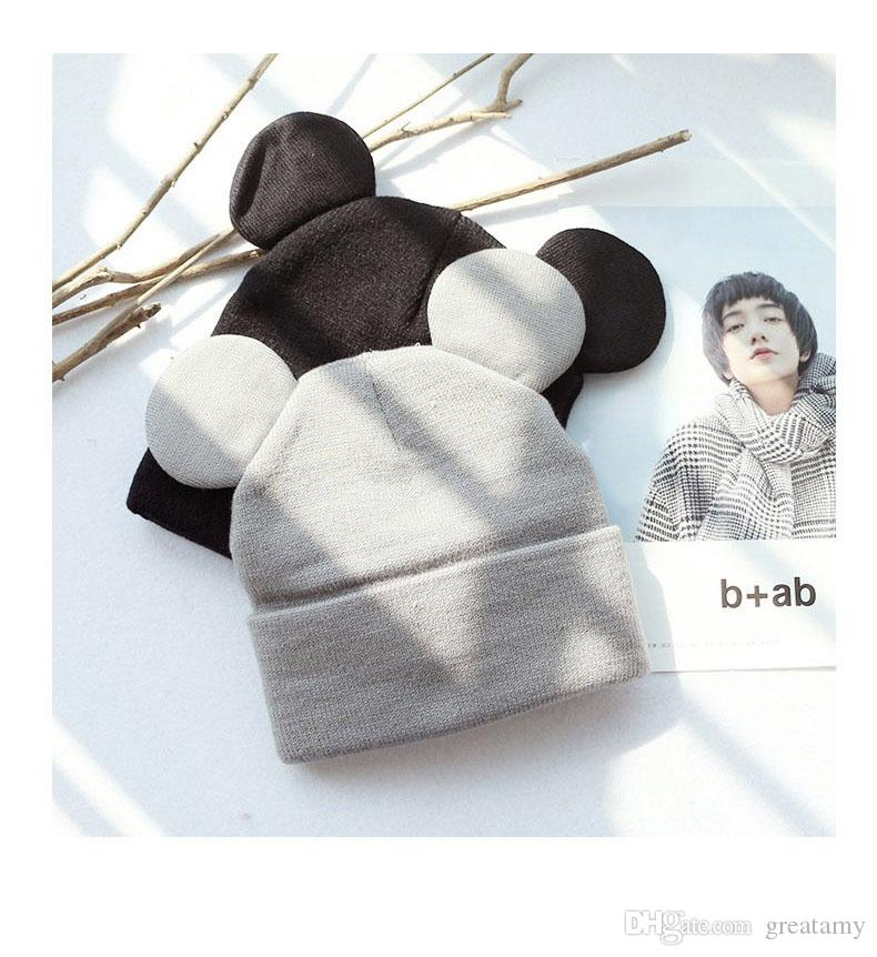 Hot winter spring autumn Baby Toddler Mickey Ears hat children crochet cap Girls & Boys Knit Baby Hats Bebes Children's beanies