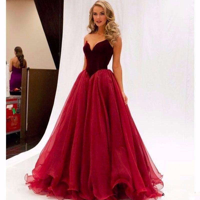 Wine Red Long Evening Dress Lebanon Celebrity Dress Red Carpet Sweetheart Prom  Dress Long Party Gown Vestidos De Festa Vestido Longo 1 Order Long Black ... 950d2f95ea87