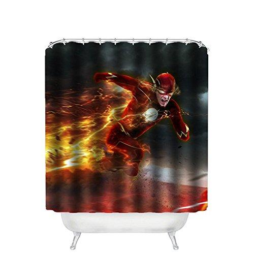 2018 Unique Custom Superhero The Flash Shower Curtain Waterproof Polyester Fabric 66 Inches X 72 From Dhkey2014 3517