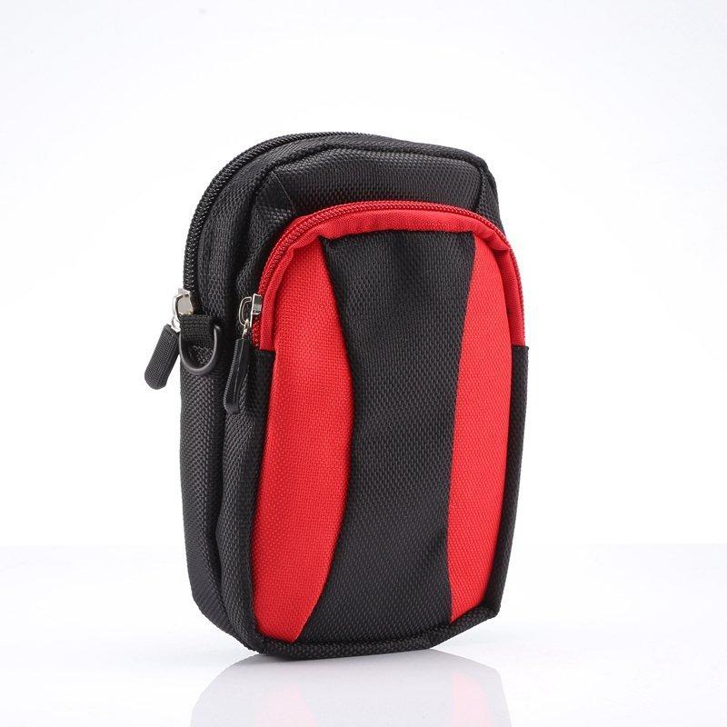 Fermeture à glissière universelle téléphone cas hanche ceinture sac portefeuille sac pochette sac à main + sangle pour iphone 7 / plus / 6 6s / note de galaxie 7 / s7 / bord / s6 / plus