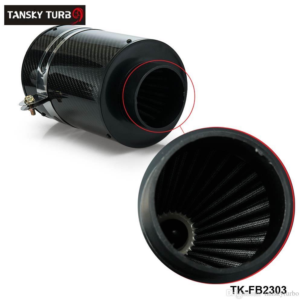 Tansky - Kit de alta calidad Kit Kit de inducción de alimentación de frío Caja de filtro de aire de fibra de carbono con o sin ventilador TK-FB2303
