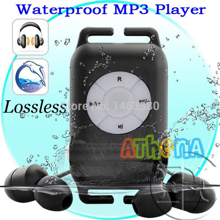 Wholesale- 100%High quality IPX8 Waterproof MP3 Player 4GB lossless music player earphone Swimming Running Surf Sports Mp3 Player+Earphone