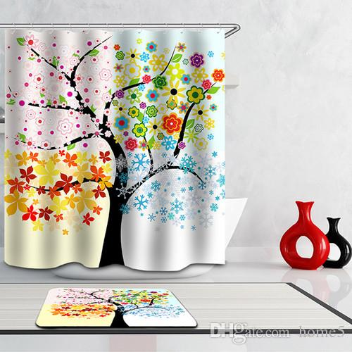 musical notation new custom abstract funky tree art paintings modern shower curtain bathroom waterproof curtains curtains for bathroom 3d curtains online - Musical Shower Curtains