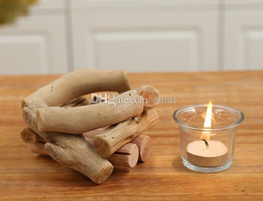 No carry candles Wooden Candlestick Candle Holder Table Desk Nice Wedding Decoration Props Decoration Furniture Romantic Candlelight Dinner