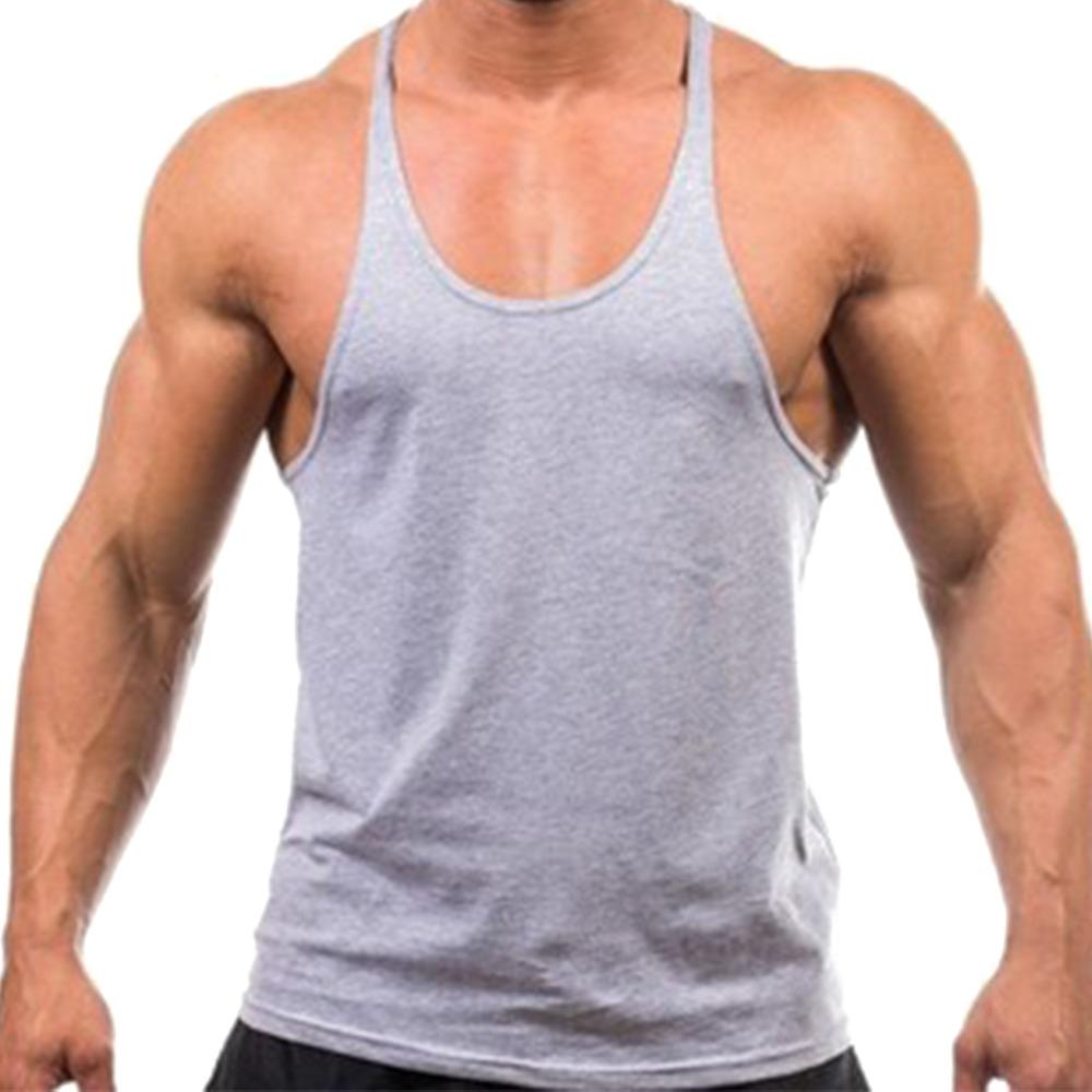 6cb86b615435e1 2019 Men Tank Top Solid Mens Muscle Sleeveless T Shirts Stringers Tee Fit  Elastic Singlets Undershirt Cotton Tops Workout Tracksuits From  Tanzhilian1