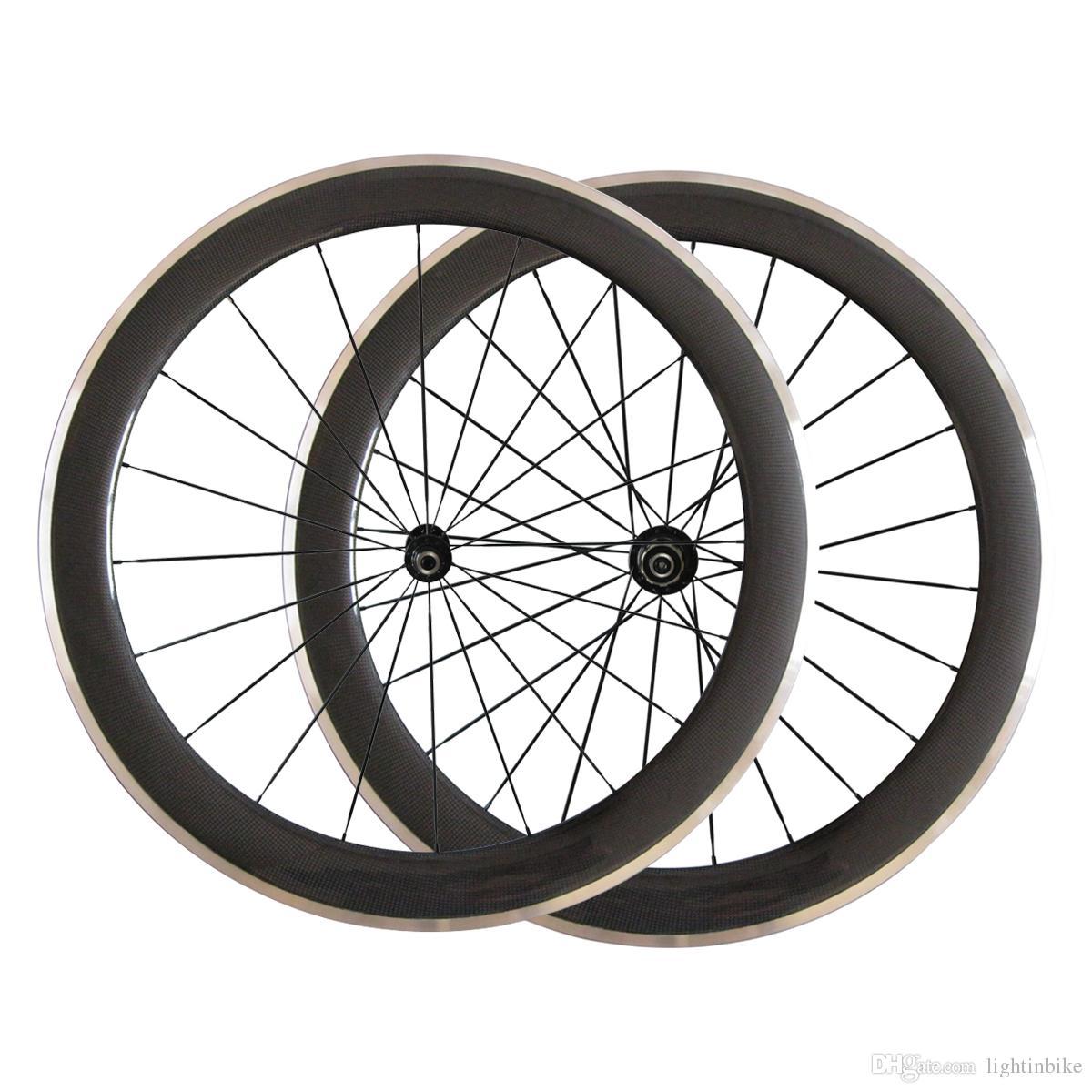 700C 60mm clincher full carbon bike wheel alloy brake,front only 20.5mm width