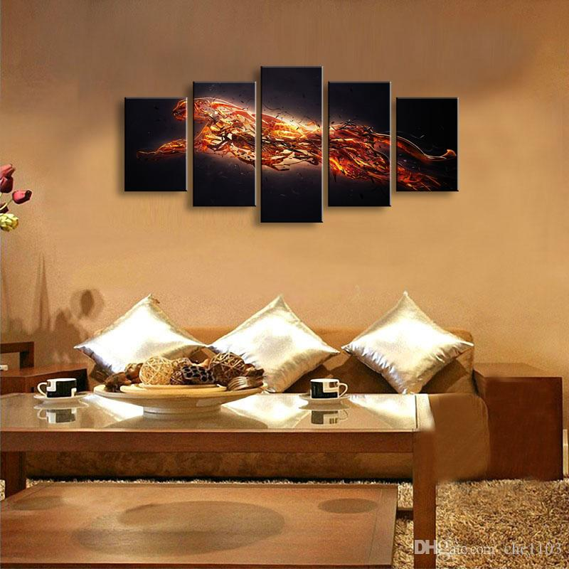 2018 5 Panel Cheetah Painting Canvas Wall Art Picture Home Decoration Living  Room Canvas Print Modern Painting Large Canvas Art Cheap Sd 017 From  Chc1103, ...
