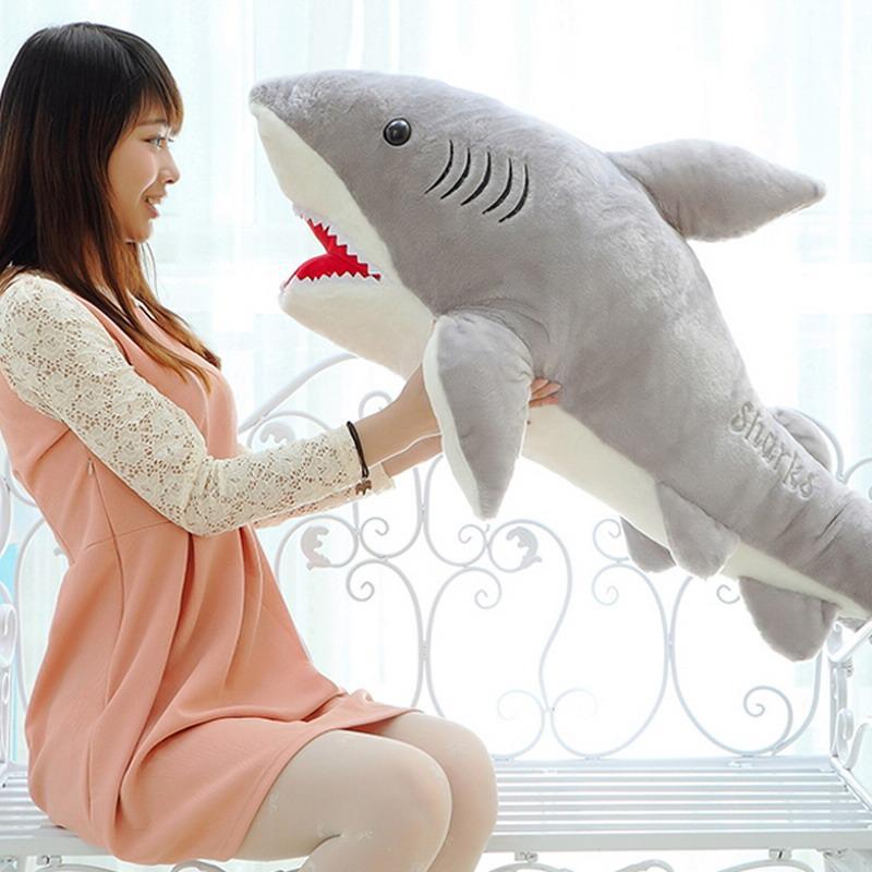 Giant Stuffed Shark 2017 70cm shark plush toy stuffed pillow doll birthday gift kids