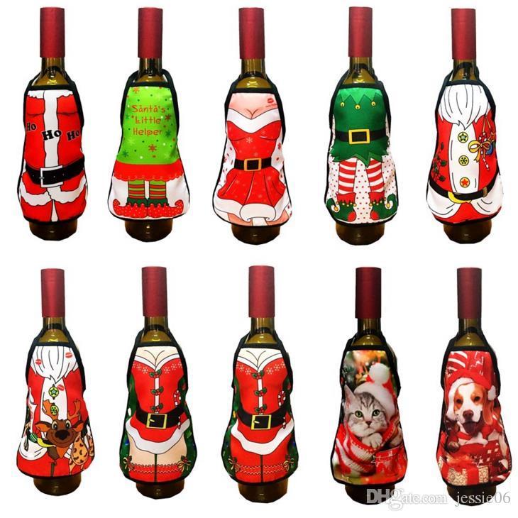 Mini Wine Bottle Apron Cover Birthday Wedding Anniversary Christmas