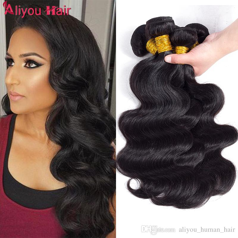 Peruvian Body Wave Virgin Human Hair Weave Bundles Wholesale Cheap Remy  Braiding Hair Extensions Remy Human Hair Ponytail For Black Women Natural  Hair Weave ... fb9187546