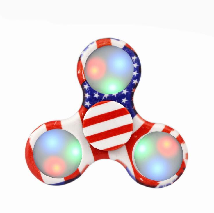 Wholesale Funny Fidget Hand Finger Spinner As Function The LED Color Lights Spinning Toy Stress Wheel Stres Spiner