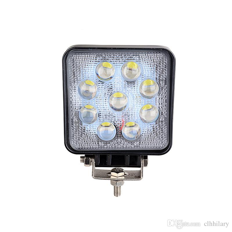 4 inch 27W Auto SUV Epistar LED Work Light 4X4 Camion Fuoristrada 9 LED 12V 24V 5D Spot Work Driving Boat 4WD 4x4 Offroad Jeep Fog Lamp