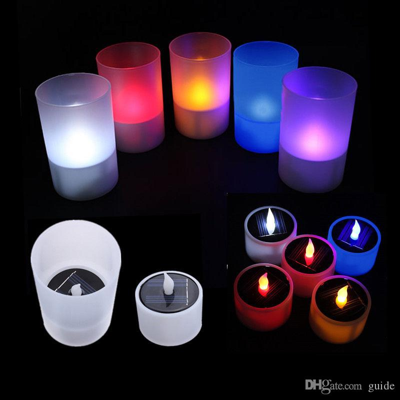 2018 Solar Lights Led Solar Candle Lamp Small Night Light ...