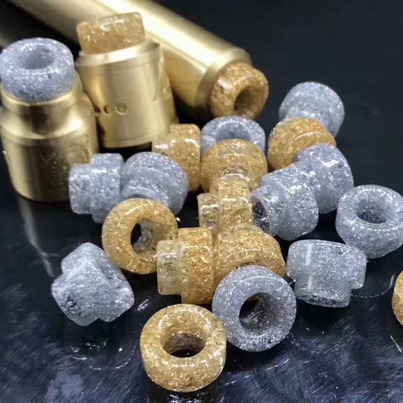 Epoxy Resin 528 Goon Drip Tip Gold Wide Bore Driptip 510 Mouth Tips Cover For Kennedy 24 Goon Mad Dog AV Battle RDA