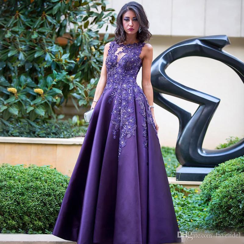 Wholesale Elegant Purple Formal Dresses Evening Wear Applique ...