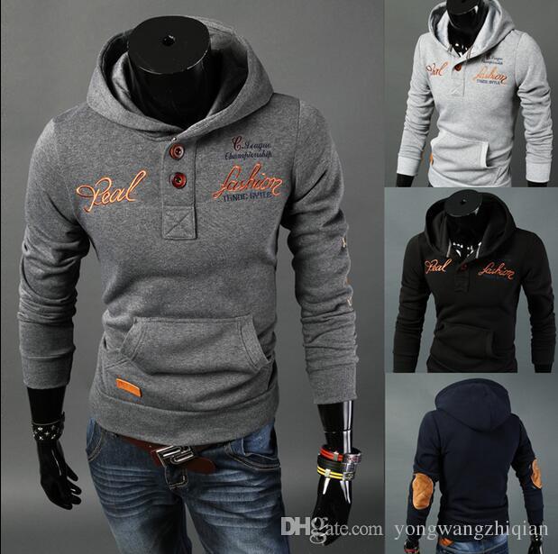 2016 мужская кожа патч восстановление древних путей вышитые куртки; набор кнопок пары, которые одежда пальто флис