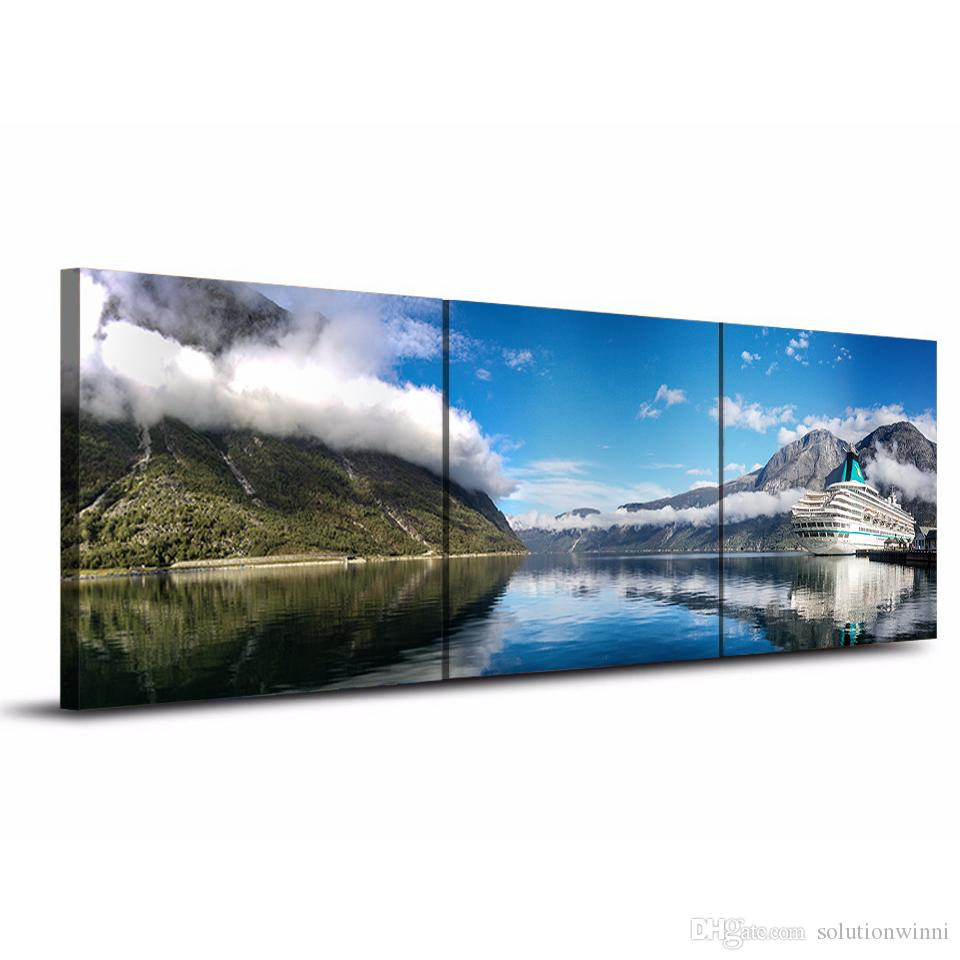Nature Landscape Mountain Sky Lake Canvas Paintings Home Decor Wall Art Framed Posters HD Prints Pictures Painting