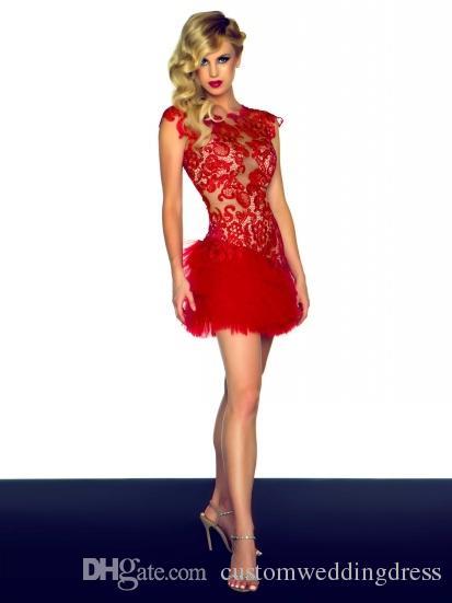 vestido longo de festa red short Evening Dresses 2017 sexy prom dresses high neck Evening Gowns backless Celebrity dress