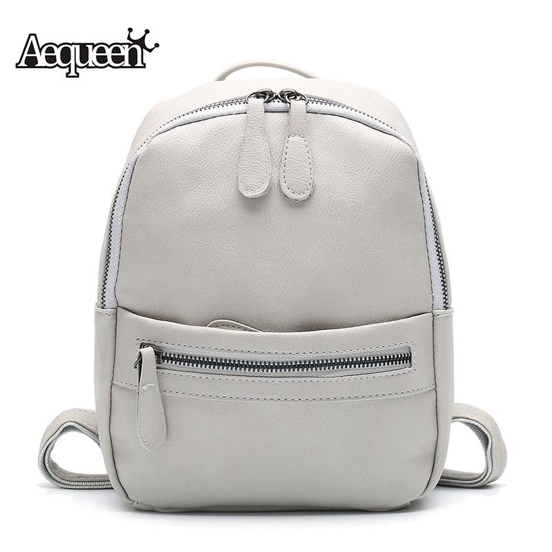 0291a7de8a7b Wholesale AEQUEEN Leather Backpack Women 2017 Fashion Candy Color Mini  Backpacks School Bags For Teenagers Girls Cute Rucksack Best Laptop Backpack  Wheeled ...
