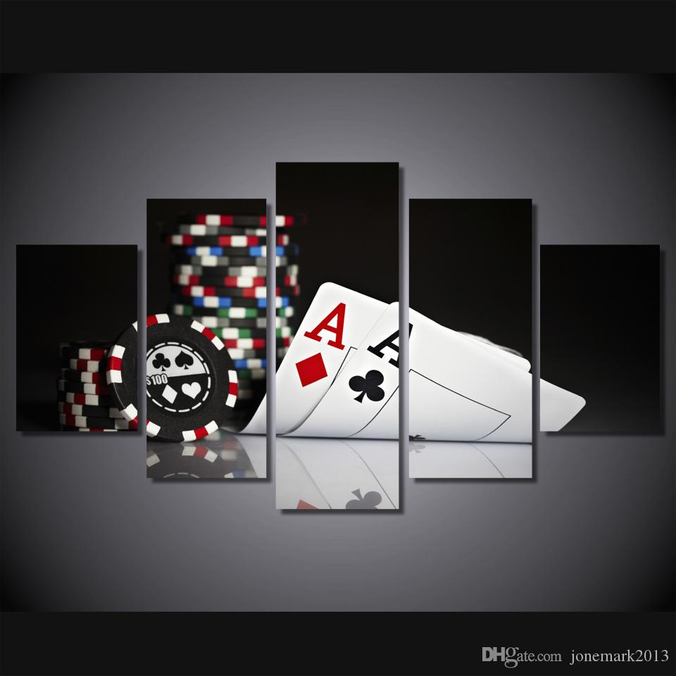 Framed HD Printed poker Painting Canvas Print room decor print poster picture canvas /ny-2881