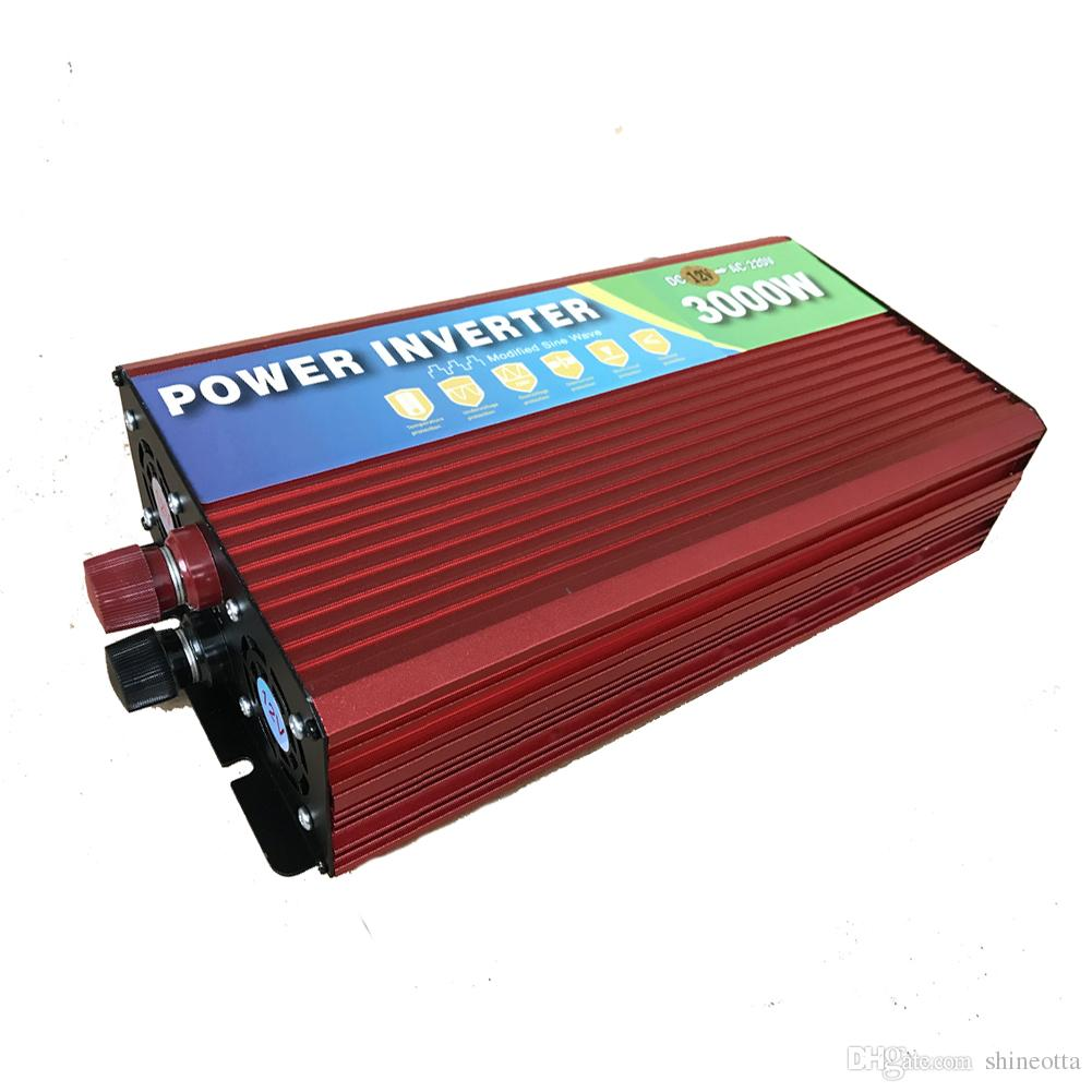 2017 3000w modified sine wave inverter 12v 220v car power inverter with battery cable with 2 ac outlet from shineotta 100 25 dhgate com