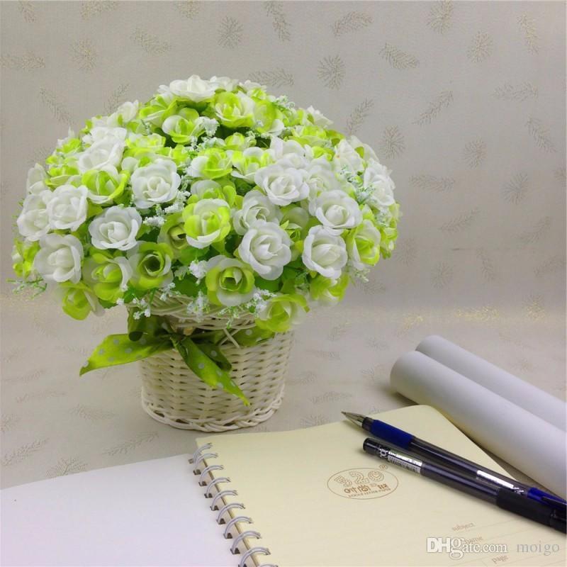 Dekorative Blumen Schöne dekorative Blumen 1 Blumenstrauß 21 Kopf Künstliche Gefälschte Rose Hochzeitsfeier Wohnkultur Seidenblume