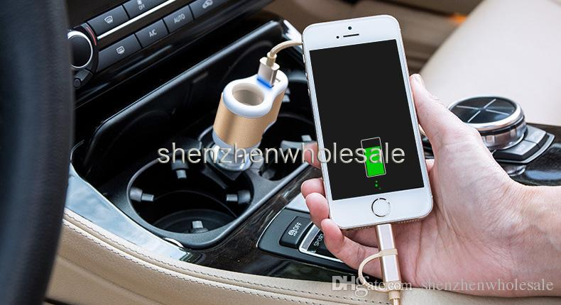 Universal Dual USB 2 Port 3100mah Car Charger Cigarette 3.1A Auto Power Adapter Lighter Power Socket Charger Adapter