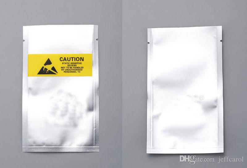 Open Top ESD 10*15cm Plastic Packing Bag Antistatic Anti-Static for phone flex cable battery Plastic Package Pouch Yellow label