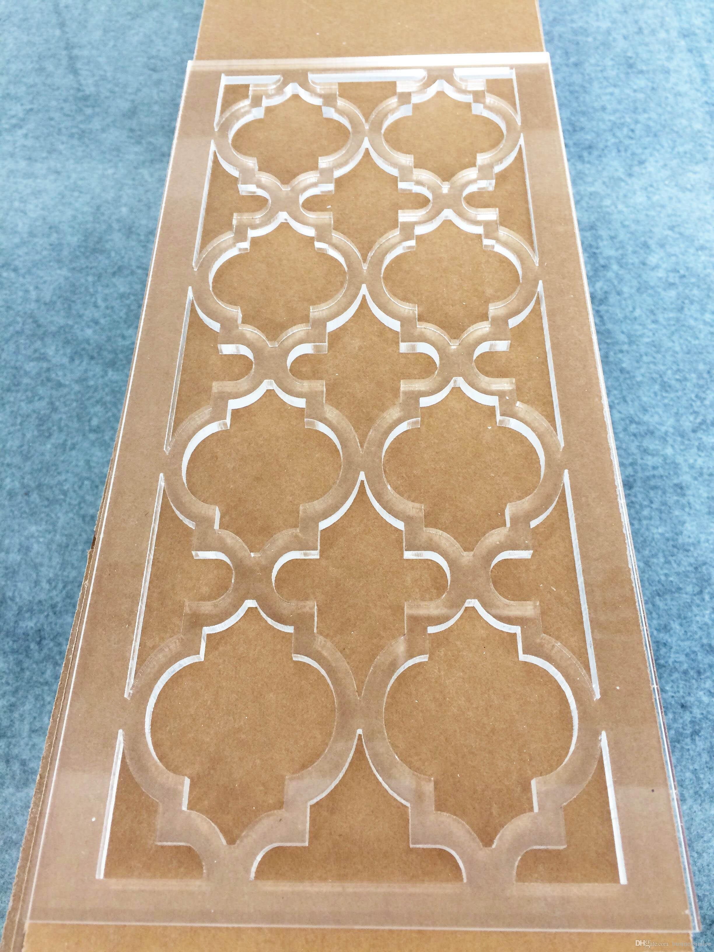 Clear Acrylic Decorative Carve Patterns Sheets Lucite Cutting ...