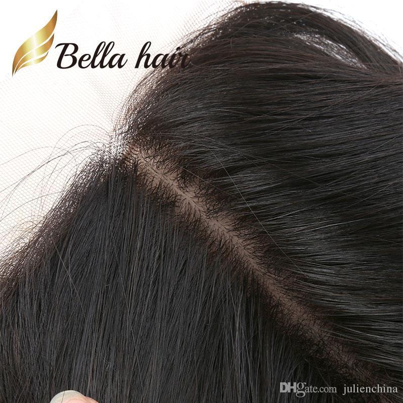 ベラヘアー®ルースウェーブレースの閉鎖ヘアスタイルブラジルのバージン人間の毛糸シルクベースフロントトップクローズ