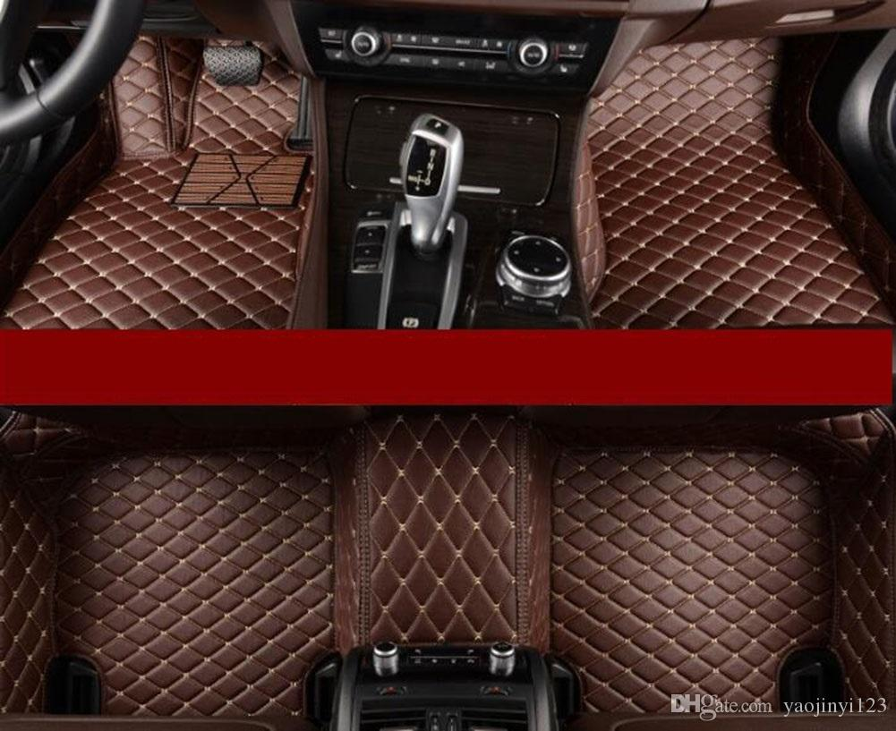 5d Diamond Shaped Designed Waterproof Leather Xpe Car Floor Mats For