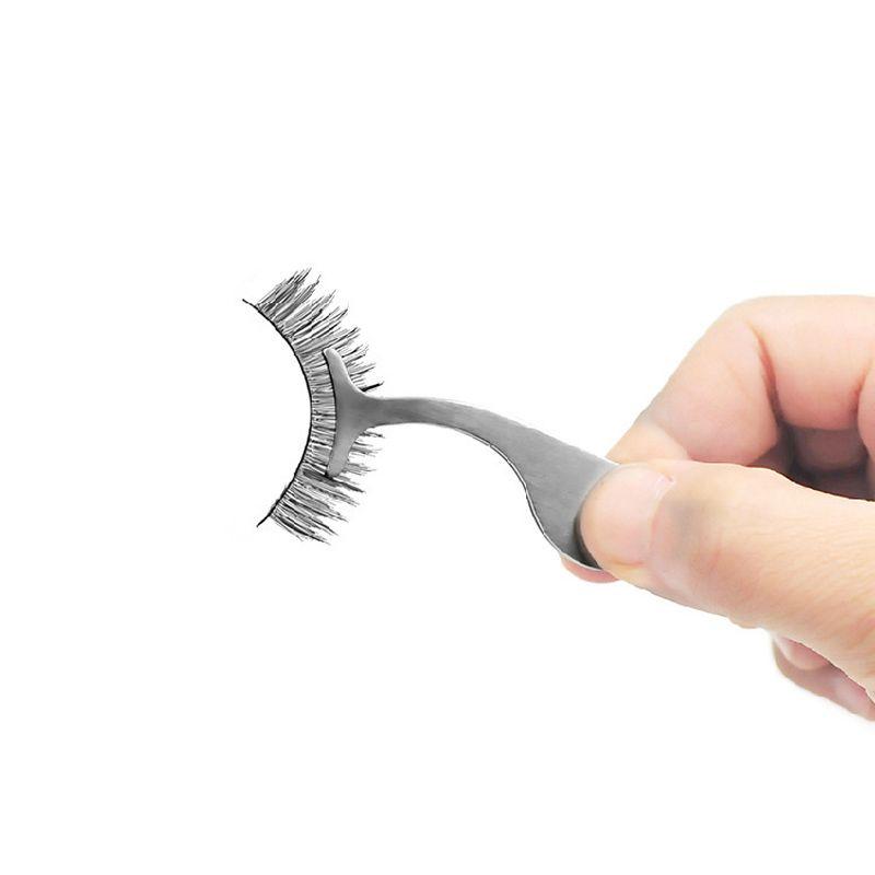 False Eyelashes Curler Professional Stainless Steel Tweezers Multifunctional Durable Eye Lashes Make Up Tools