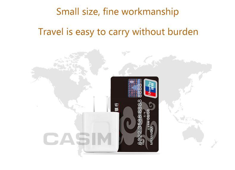 CASIM Yüksek kaliteli USB Şarj, 1-Port Fiş Hızlı Şarj Adaptörü 2.1A, Çok Koruma Intellige IC iPhone7 7 artı iPad Cep Telefonu için