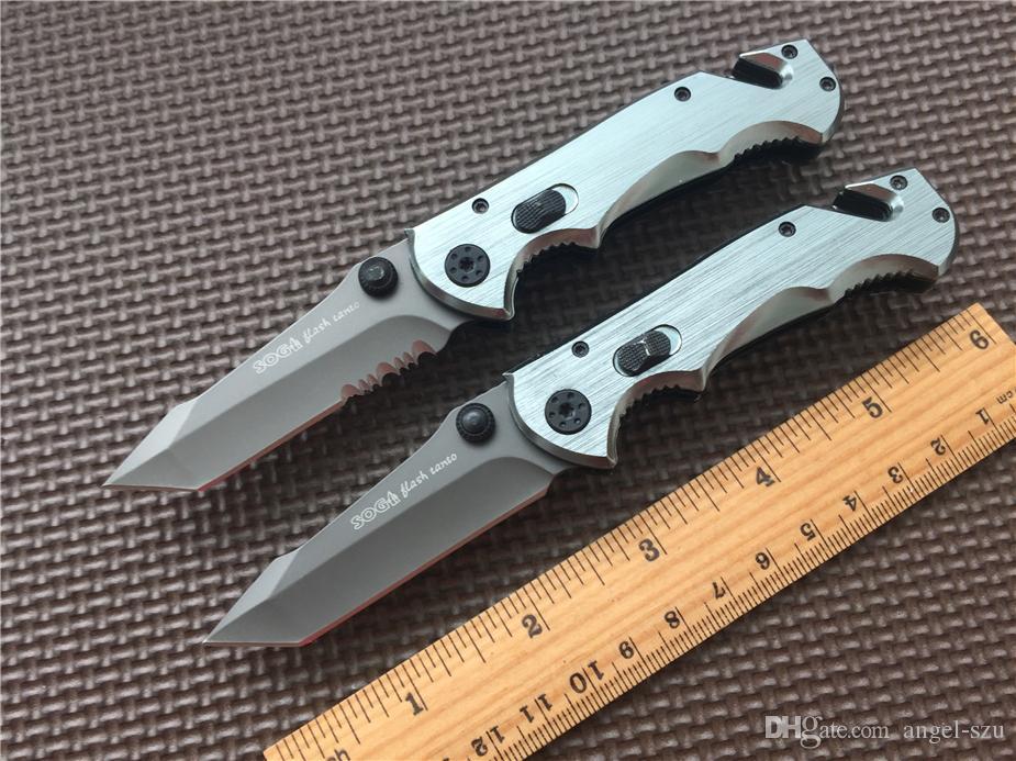 SOG EDC pocket knife Katlanır bıçak bıçak manuel açılış 440 Çelik Dişli survival av bıçağı kamp bıçaklar Noel hediyesi