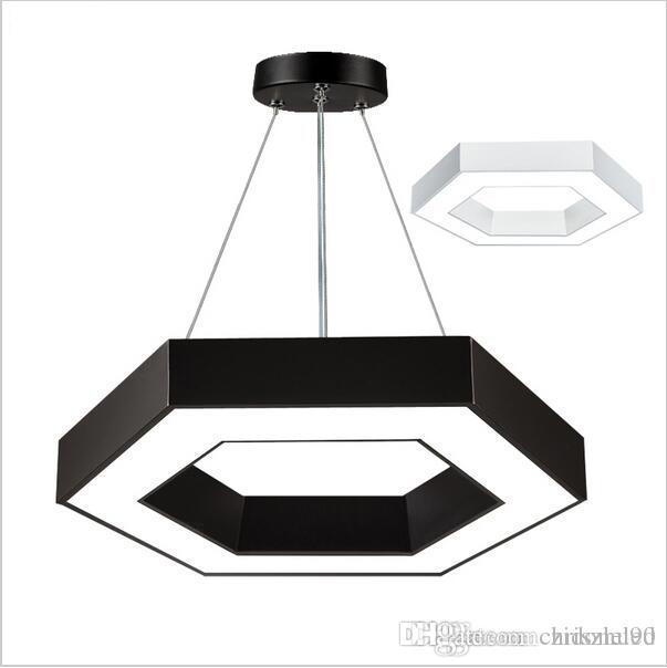 modern office hexagon led pendant lights minimalism metal pendant