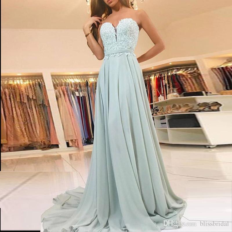 New barato longo vestidos de noite sem alças top lace sash sábio chiffon sereia formal vestidos de noite feito sob encomenda zíper de volta varrer trem prom
