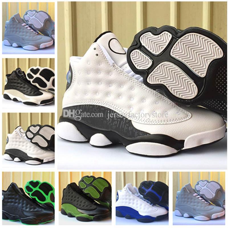new style 2bc84 890ce Großhandel 2018 New 13 Schuh Olive Black Herren Basketball Schuhe Designer  Hyper Royal Blue 13s Herren Damen Sport Outdoor Sneakers Eur 36 47 Von ...