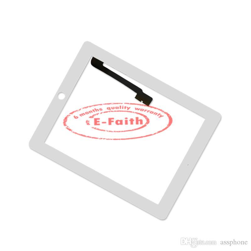 Efaith Quality Digitizer för iPad 3 Vit pekskärm Digitizer ersättning med hemknapp + limfri DHL-frakt
