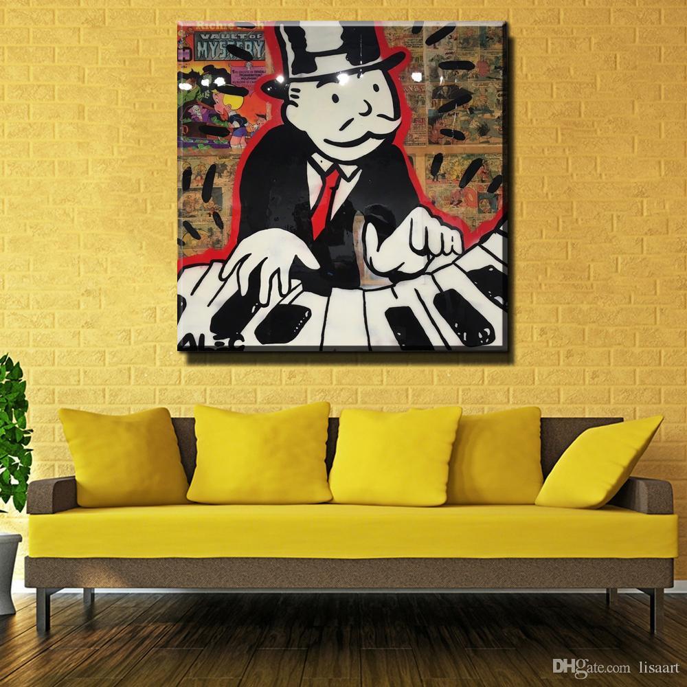 2018 Zz206 New Dj Music Alec Monopoly Graffiti Arts Print Canvas For ...