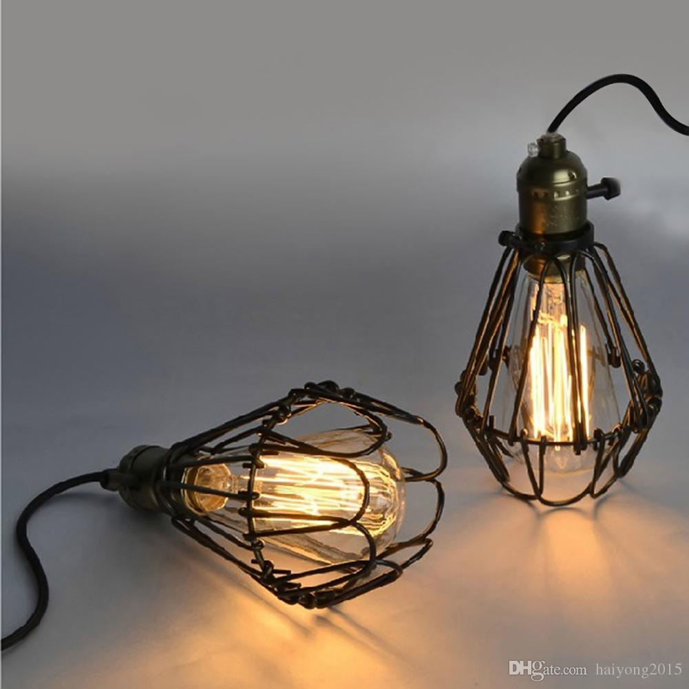 New Arrivals Edison Vintage Pendant Light Rustic Wire Cage Light ...