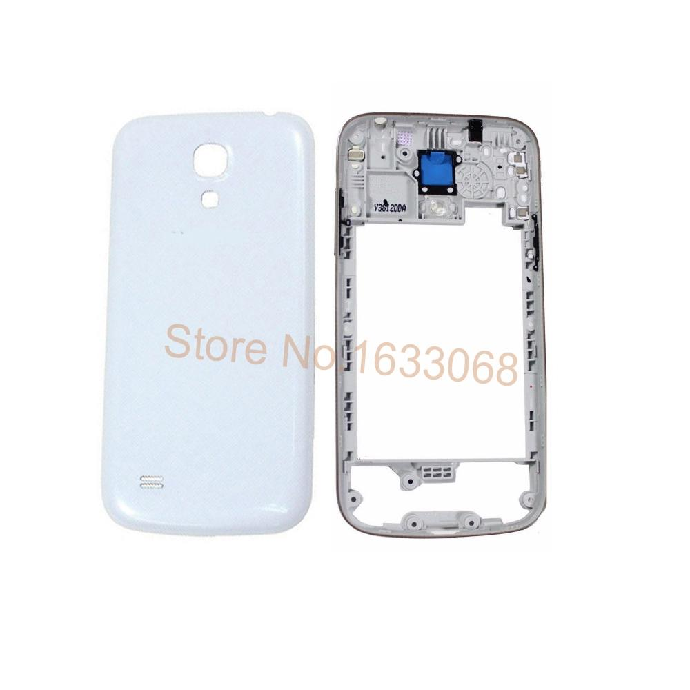 newest b7fd8 cfb20 Original New Housing Cover Middle Frame +Back Cover Battery Door For  Samsung Galaxy S4 Mini I9190 I9195 Black White Tracking NO.