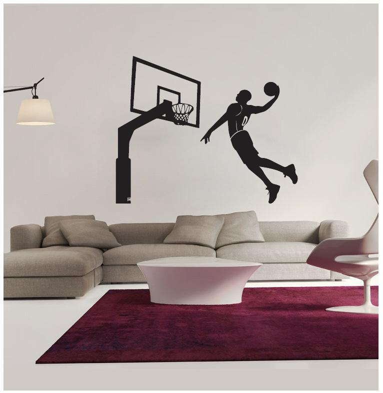 New Arrival 7662cm Basketball Players Wall Stickers Pvc Removable