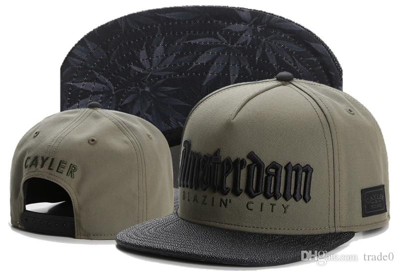 Commercio all'ingrosso CaylerSons Snapback Caps cappelli da baseball di Snapback di moda cappelli cappello di Snapback Caps colorato cappello della sfera di Snapback del cappello e cappuccio Mens