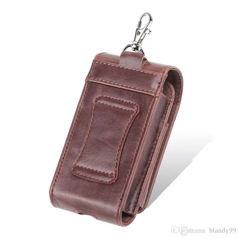 черный коричневый цвета crazy horse кожа электронные сигареты аксессуары чехол для переноски чехол для iQOS электронная сигарета