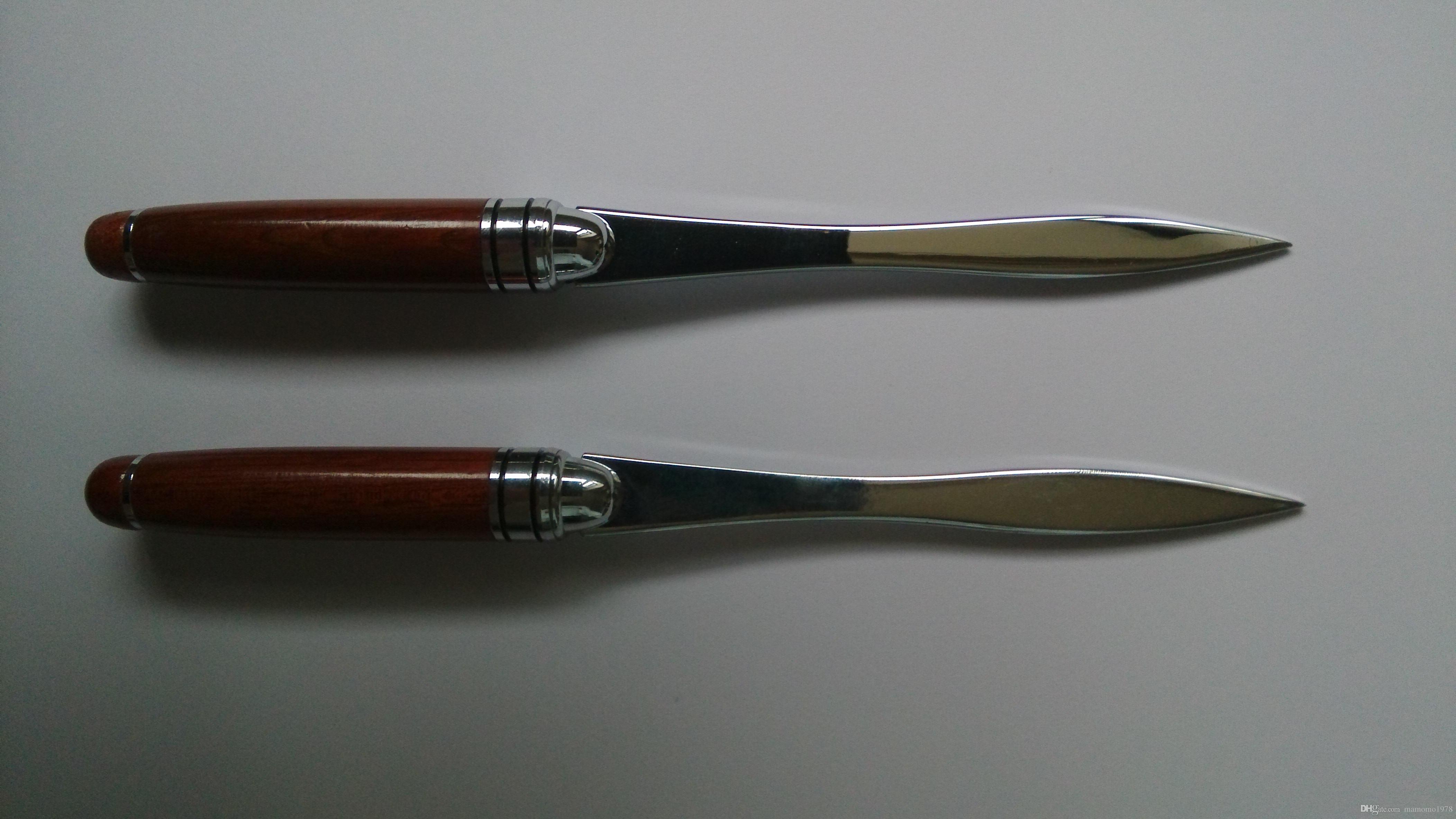 Нержавеющая сталь конверт нож Нож для бумаги нож для вскрытия писем с красной металлической ручкой металл ремесло горячий продавать P041