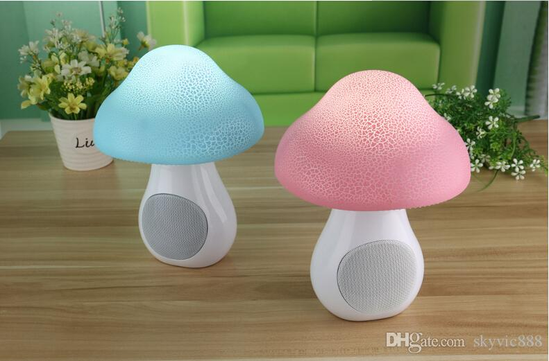 factory directed sale new items wireles mashroom bluetooth speaker with led gift bluetooth speaker