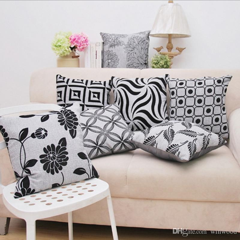 home pillow cover pattern modern soft cotton linen pillowcase Couch Pillow Cover Pattern