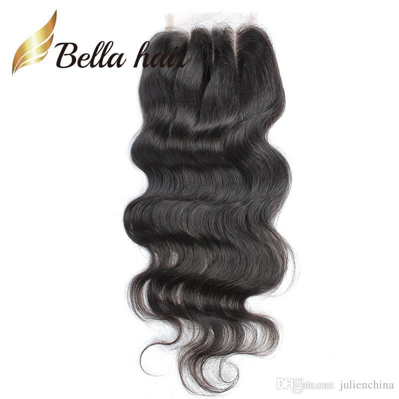 Pérou corps humain cheveux vague 3 Bundles et fermeture du Pérou Cheveux Weave Bundles avec fermeture /