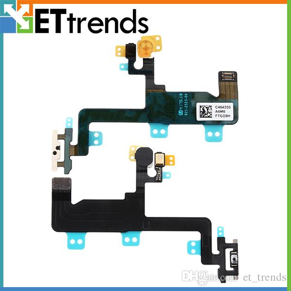 High Quality Power Flex Cable for iPhone 6 Power Mute Volume Button Switch Flex Cable Replacement free ship by DHL